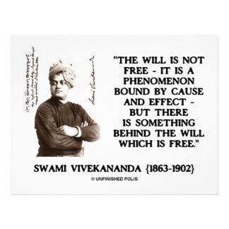 Swami Vivekananda Will Is Not Free Cause Effect Letterhead Design