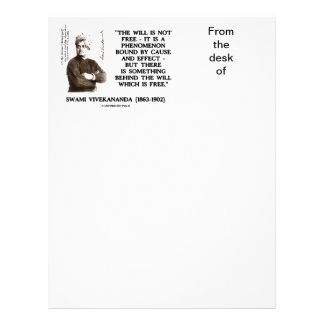 Swami Vivekananda Will Is Not Free Cause Effect Letterhead