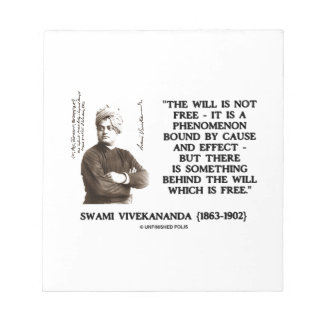 Swami Vivekananda Will Is Not Free Cause Effect Note Pad
