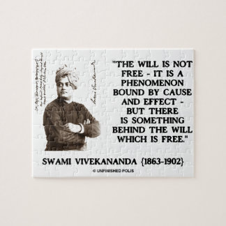 Swami Vivekananda Will Is Not Free Cause Effect Jigsaw Puzzles