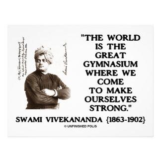 Swami Vivekananda World Great Gymnasium Strong Custom Letterhead