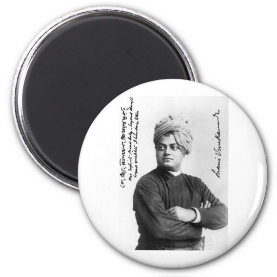 Swami Vivekanda's Famous photo from 1893 magnet