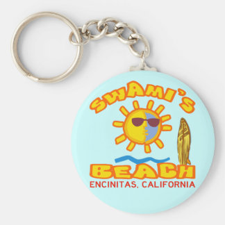 Swami's Beach Keychain