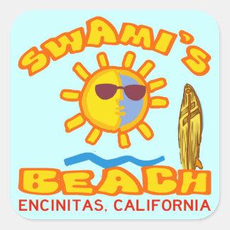 Swami's Beach Square Sticker