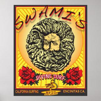 SWAMI'S ENCINITAS CALIFORNIA SURFING SURFBREAK POSTER