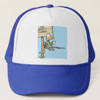 Swamp Air Traffic Control Cartoon Trucker Hat