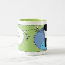 Swamp Ant Golf Putt Cartoon Two-Tone Coffee Mug