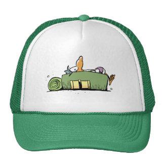 Swamp Backpacker Bird Cartoon Trucker Hat