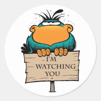 Swamp Bludgerigar I'm Watching You Sticker