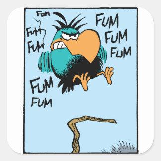 Swamp Bludgerigar Landing Cartoon Square Sticker
