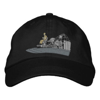 Swamp Boat Embroidered Baseball Cap
