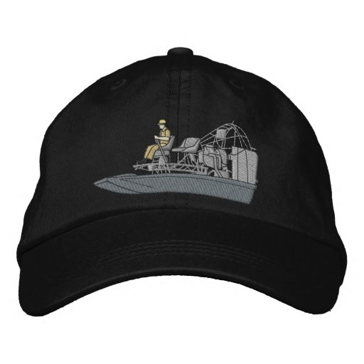 Swamp Boat Embroidered Baseball Hat