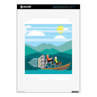 Swamp Boat ride AirBoat iPad 3 Skin