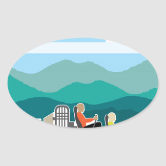 Swamp Boat ride AirBoat Oval Sticker