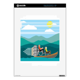 Swamp Boat ride AirBoat Skin For iPad 2