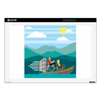 Swamp Boat ride AirBoat Skin For Laptop