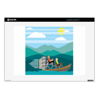 """Swamp Boat ride AirBoat Skins For 15"""" Laptops"""