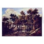 Swamp By Ruisdael Jacob Isaaksz. Van Greeting Card