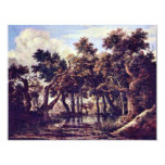"Swamp By Ruisdael Jacob Isaaksz. Van 4.25"" X 5.5"" Invitation Card"
