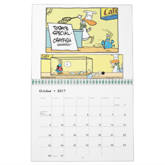 Swamp Cartoon Character Animals Calendar