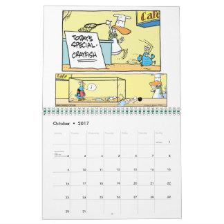 Swamp Cartoon Character Animals Calendar