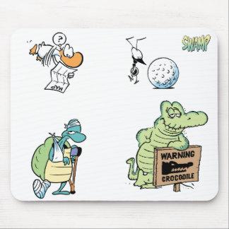 Swamp Cartoon Character Mouse Pad