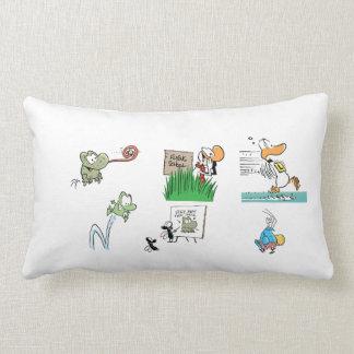Swamp Cartoon Character Pillow