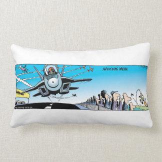 Swamp Cartoons Air Show Pillow