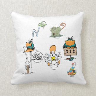 Swamp Cartoons Character Pillow