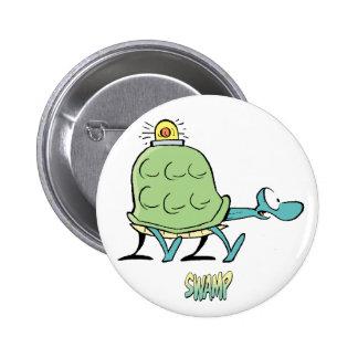 Swamp Cartoons Turtle Ambulance 2 Inch Round Button