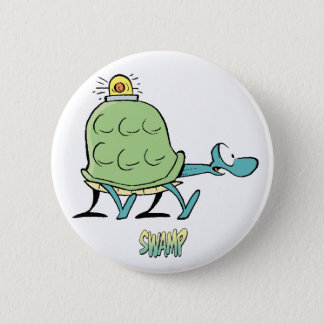 Swamp Cartoons Turtle Ambulance Pinback Button