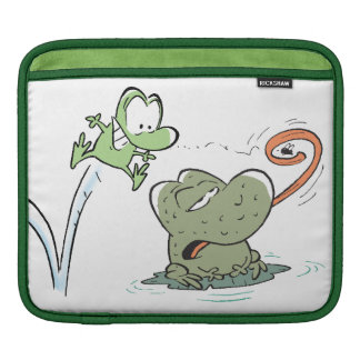 Swamp Cartoons Wart and Mort the Frogs Ipad Sleeve