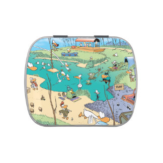 Swamp Character Map Jelly Bean Case Jelly Belly Tin