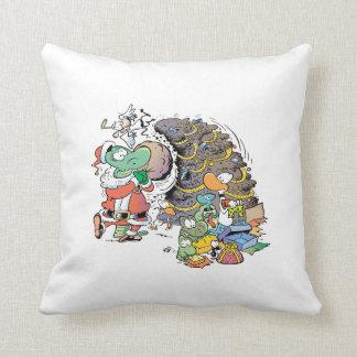 Swamp Christmas Day Cartoon Pillow
