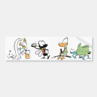 Swamp Comic Animals Bumper Sticker