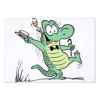 Swamp Crocodile Birthday Invitation 13 Cm X 18 Cm Invitation Card