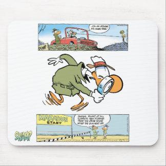 Swamp Detective Cartoon Mouse Pad