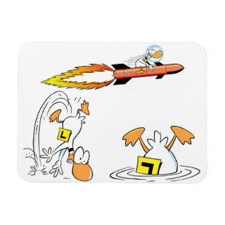 Swamp Ding Duck Cartoon Magnet