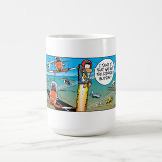 Swamp Ding Duck Ejector Seat Classic White Coffee Mug