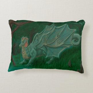 Swamp Dragon Accent Pillow