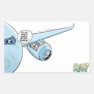 Swamp Duck Airline Sticker