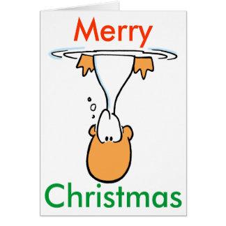 Swamp Duck Cartoon Christmas Card