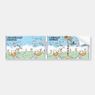 Swamp Ducks Airspace Patterns Car Bumper Sticker