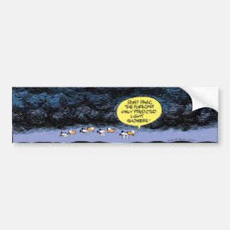 Swamp Ducks Flying in Stormy Weather Car Bumper Sticker