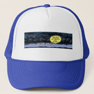 Swamp Ducks Stormy Weather Trucker Hat