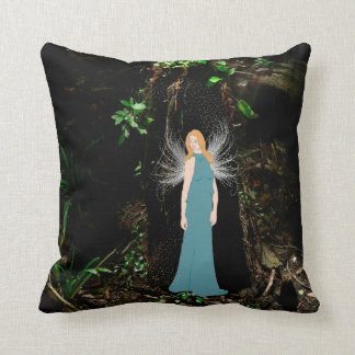 Swamp Fairy Designer Pillow