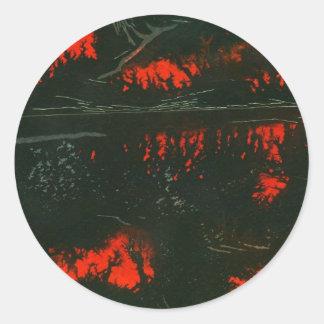 """Swamp Fire #1"" Abstract Design Sticker"