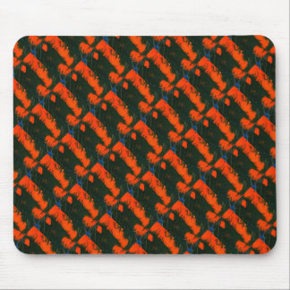 """Swamp Fire 2"" Abstract Design Mousepad"