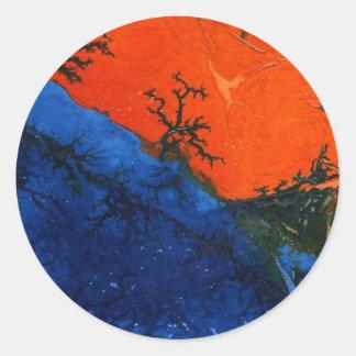 """Swamp Fire #4"" Abstract Design Sticker"