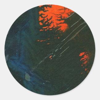 """Swamp Fire #7"" Abstract Design Sticker"